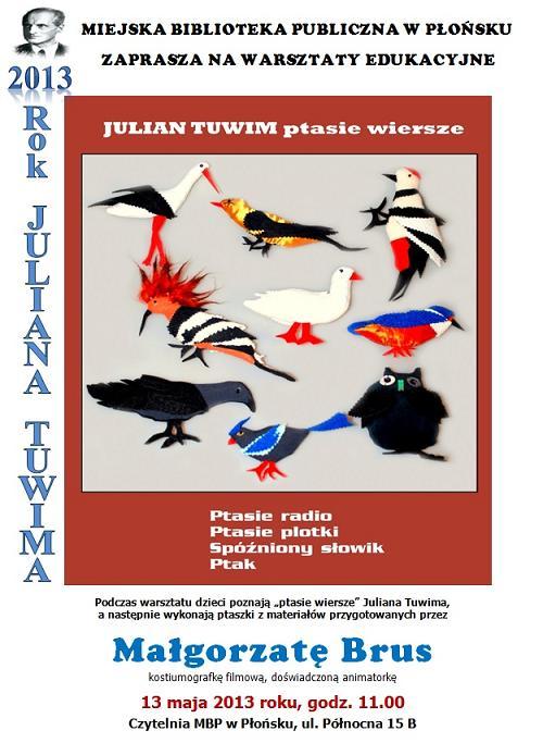 Warsztaty Edukacyjne Mbp Płońsk 2013 Julian Tuwim Ptasie